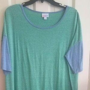 Lularoe Womens Tunic Sz L Green Blue